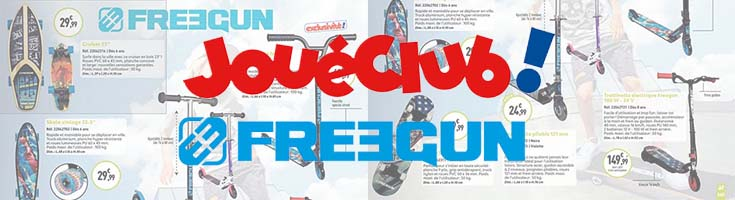 Freegun's product available on Jouet Club magazine !